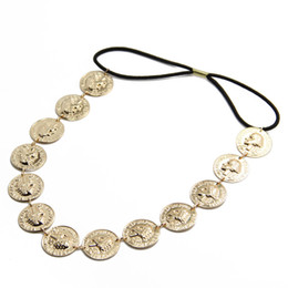 $enCountryForm.capitalKeyWord NZ - Vintage Gold Silver Tone Coin Hairband Head Chain Hair Accessories Jewelry CF141