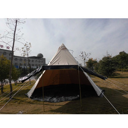 Wholesale- Outdoor Survival Tent 500*500*300cm Cotton Canvas Bell Tent Waterproof Yurt Tipi C&ing Tent keep warm ultra-light picnic  sc 1 st  DHgate.com & Waterproofing Canvas Tents NZ | Buy New Waterproofing Canvas Tents ...