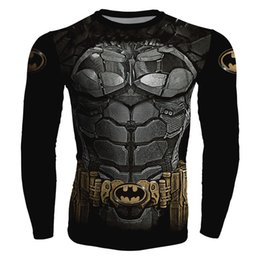 T-shirts Superman Pour Hommes Pas Cher-2017 Nouveau Mode Fitness MMA Compression Chemise Hommes Anime Bodybuilding À Manches Longues Crossfit 3D Superman Punisher T Shirt Tops T-shirts Pour Hommes