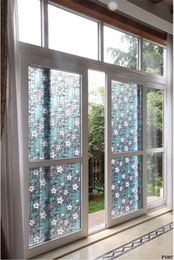 $enCountryForm.capitalKeyWord UK - Matt Flower window glass film Bathroom stickers without glue Vinyl whole colorful decals Explosion proof grilles paper 45*100cm