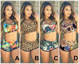 0a0f6f098b20f coconut bikini 2019 - 2015 Sexy Women Push up Bandage Bikini Set Sunset  Coconut Palm 3D
