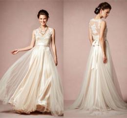 plain simple chiffon wedding dress a line v neck tank sleeveless with appliques ribbons bow vestido de noivas bridal gowns for brides beach