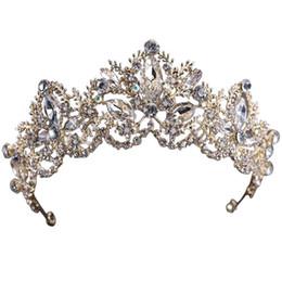$enCountryForm.capitalKeyWord Canada - Vintage Tiaras Rhinestone Crowns Wedding Hair Accessories Rhinestones Bridal Bridal Jewelry Head Wear Cheveux free shipping