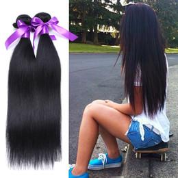 Malaysian Straight Hair 22 Inches Canada - Malaysian Virgin Hair Straight 4pcs Lot 100% Unprocessed Malaysian Straight Hair Weaves Cheap Malaysian Virgin Hair Bundle Deals