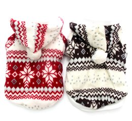 Wholesale christmas hoody for sale – custom Pet Dog christmas Warm Sweater Coat Pet Puppy Hoody Jacket Jumper Snow Flakes design sizes availbale