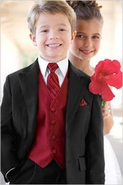 $enCountryForm.capitalKeyWord Canada - Cheap Boys Formal Occasion Tuxedos Kids Birthday Party Suits Prom Business Suits Boy Flower Girl Dress (Jacket+Pants+Vest+Tie)