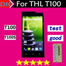 Thl Touch screen online shopping - Original New Touch Screen Digitizer Glass Lens Assembly and LCD Display for THL T100S T100 Cellphone inch