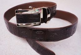 Crocodile Mans Belt Canada - Thai crocodile leather belt buckle belt automatically tie in pants is very good Exempt postage a very beautiful style