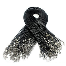 bc5d5fd7e Cheap Black Coffee Wax Snake Necklace Beading Cord String Rope Wire  Extender Chain with Lobster Clasp DIY jewelry component free shipping