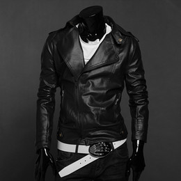 Discount Leather Mens Biker Bomber Jacket | 2017 Leather Mens ...