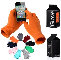 iglove for iphone NZ - IGlove Screen Touch Gloves Capacitive Gloves With Retail Package Unisex Winter for Iphone 6 6S Plus 5S Smart Phone Touch ipad