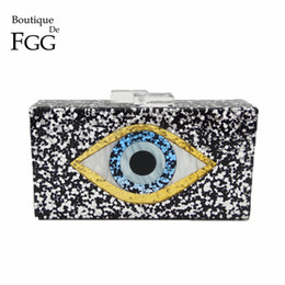 $enCountryForm.capitalKeyWord NZ - Wholesale- Eyes Print Shiny Acrylic Gold Evening Clutch Box Bag For Women Wedding Party Fashion Handbags Chain Shoulder Bag Messenger Bags