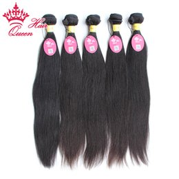 Wholesale Queen Hair Peruvian Virgin hair straight extensions quot quot unprocessed Remy Human hair By DHL