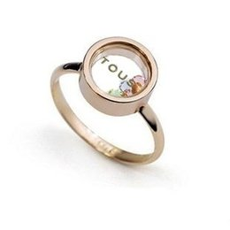 China Floating locket rings crystal ring Classic 18K Gold plated rings Fluorescent letter LED floating charm glass box rings suppliers