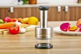 $enCountryForm.capitalKeyWord NZ - 2019 New Design Easy Onion Holder Slicer Vegetable tools Tomato Cutter Stainless Steel Kitchen Gadgets Multifunction No More Stinky Hands