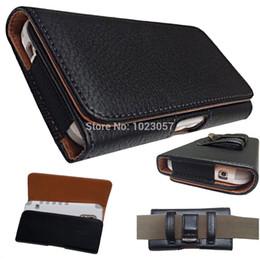 Leather beLt Loop cases online shopping - Black Leather Flip Belt Clip Hip Loop Holster Pouch Cover for SANTIN Dante SANTIN GALAZ SANTIN N3