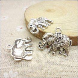 Coin Bracelet Jewelry Wholesale Canada - 45 pcs Vintage Charms Elephants Pendant Antique silver Fit Bracelets Necklace DIY Metal Jewelry Making jewelry emerald necklace