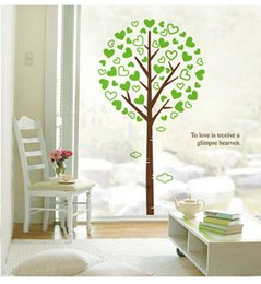 Chinese 3d Wall Stickers Canada - 3D Large Green Tree Wall Art Mural Decor To love is receive a glimpse Heaven Wall Quote Decal Sticker Home Art Decor Wallpaper Poster