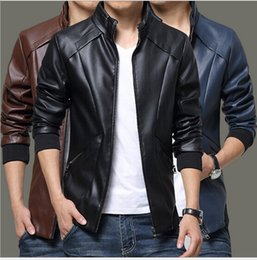 Discount Spring Leather Jacket Men | 2017 White Leather Jacket Men ...