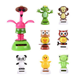 novelty toy cars NZ - Wholesale- Pudcoco NOVELTY SOLAR POWERED DANCING animals, DASHBOARD TOY, HOME OR CAR DECOR ORNAMENT HotSale