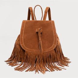 $enCountryForm.capitalKeyWord Canada - new Fashion lady backpack tassel leisure bag travel bag girl plush backpack brown black girl school bag free shipping