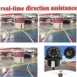 $enCountryForm.capitalKeyWord NZ - 20 MM Universal 8 IR Car Dynamic Track Rear View Reverse CCD Camera tracking Lines Rear View Camera For Kia   VW  audi