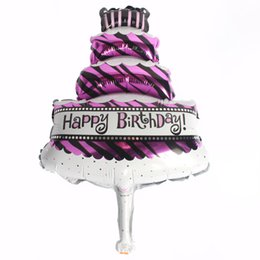 $enCountryForm.capitalKeyWord Australia - Hot Sale Mini Aluminum Balloon Cartoon Balloons Birthday Balloon Decoration Birthday Candles Cakes Shape Balloons Pink Blue Colors