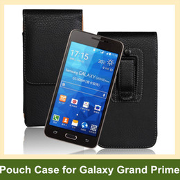 Leather Belt Clips Canada - Wholesale Newest Belt Clip PU Leather Vertical Flip Cover Pouch Case for Samsung Galaxy Grand Prime G530 Free Shipping