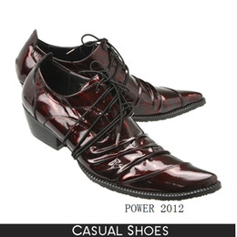 Burgundy Wedding Shoes Canada - High Quality Mens Dress Shoes Patent Leather British Style Male Oxfords Burgundy Black Bronze Lace-Up Business Shoes Party Wedding Shoes Man