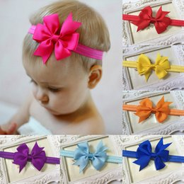 $enCountryForm.capitalKeyWord NZ - Bowknot kids Hair Accessories Girl Hair Bow Headband DIY Grosgrain Ribbon Bow Elastic Hair Bands For Newborn Infant Toddler Hair Accessories