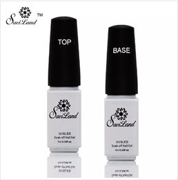 Lacquer coating online shopping - 2pcs Non cleaning Base and Top Coat for UV Gel Polish Top Coat Top it off Nail Lacquer Foundation Nails Glue