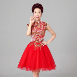 $enCountryForm.capitalKeyWord Canada - Shanghai Story cocktail dress short Dresses Satin Bride dress Bridesmaid Dresses girl ladies sexy Clothes for pary Club Stage 3 color