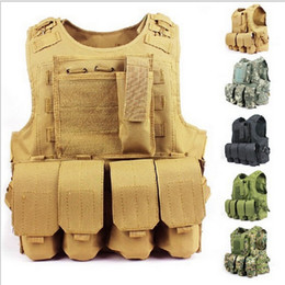 Combat vests online shopping - High Quality Cheap D Nylon Army Molle System Combat Tactical Vest Outdoor Hunting Vest Can Update to NIJ IIIA