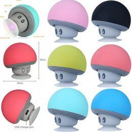 Sucker mini Speaker online shopping - BT280 lovely mini mushroom Car speaker subwoofer Bluetooth wireless speaker silicone sucker phone tablet computer stand