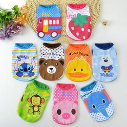Discount yorkie clothes - 5pc lot Cute Cartoon Pet Dog Clothes For Small Dogs Soft Cotton Pet T shirt Vest Summer Puppy Cat Clothing Chihuahua Yor