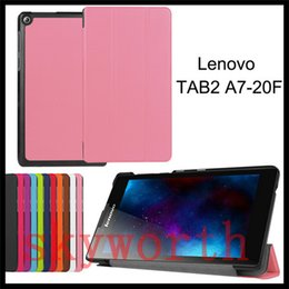 Discount lenovo folio - For Lenovo Tab 2 A10-70 Tab 3 8 Plus 7 Essential 710F 730M 730 Tab4 8 8504F Folio Flip leather case Smart Cover