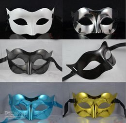 Men Half Face Masquerade Color Masks Canada - on sale Man Mask Halloween Party Mask Masquerade Masks Mardi Gras Venetian Dance Party Half Face Mask Mixed Color free shipping