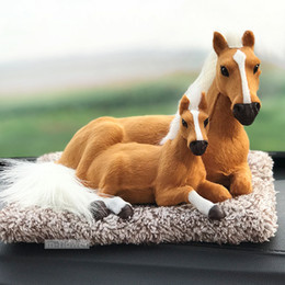 $enCountryForm.capitalKeyWord Canada - Horse Toy With Mat Bamboo Charcoal Bag Simulation Pet Doll Car Office Home Internal Decoration Activated Carbon Remove Formaldehyde Gifts