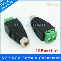 $enCountryForm.capitalKeyWord NZ - Free shipping 10pcs RCA Female Coax Cable Connector Adapter F M Coupler for CCTV Camera rca jack plug RCA Video & Audio cable