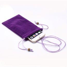 $enCountryForm.capitalKeyWord UK - Universal Phone Bag Case Velvet Pouch Fabric Cases For iPhone X 8 7 6S Samsung S8 Plus J3 J5 J7 for tablet pc 6 size