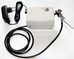 Airbrush Makeup Kit Canada - makeup airbrush kit 10-240V Mini Air Compressor Single Action