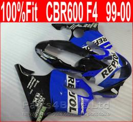 Custom Body Honda Cbr Australia - Perfect REPSOL blue Body parts Injection molding for Honda custom fairings CBR 600 F4 1999 2000 fairing kit CBR600 F4 99 00 DRXN