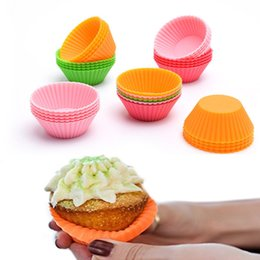 $enCountryForm.capitalKeyWord NZ - Cheaper Round Shape Silicone Muffin Cup Cake Mould Case Bakeware Maker Mold Tray Baking Cup Liner Baking Molds HH7-269