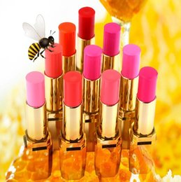 colorful lipstick brands NZ - 10pieces Brand New Make Up Colorful Beeswax Noble Lipstick Makeup Stage Makeup Sex Lip Cream Matte lipstick Free shipping