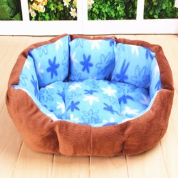 Cat Baskets Beds Canada - High Quality Suede Warm Cozy Puppy Dog Cat Kitten Pet Bed Pad Cushion Basket Sofa Couch Mat products for animals
