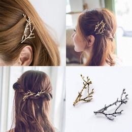 $enCountryForm.capitalKeyWord Canada - legant Metal Tree Branch Hairpins Hair Clips for Women barrettes Female Headwear Alloy Hair Accessories Hair Clip New