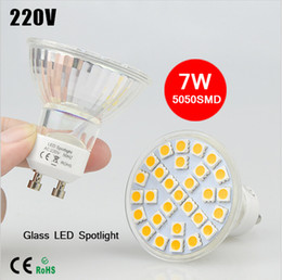 Bulb Warmer Heat Lamps Canada - BEST Selling 10Pcs lot 220V 7W GU10 Heat Resistant Class Body LED lamp Spotlight 5050 SMD 29 LEDs Bulb light For Wall Downlight lighting