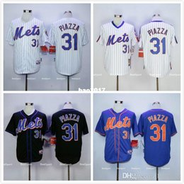 big sale 90ff0 b9ee2 mens new york mets 31 mike piazza 1986 white mitchell ness ...