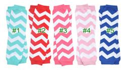 $enCountryForm.capitalKeyWord NZ - wholesale Baby Chevron Leg Warmer infant girl boy colorful leg warmer children socks Legging Tights Leg Warmers 24 pairs lot can mix color