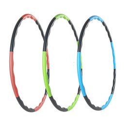 wholesale hula 2020 - Wholesale- Disassemble Health Weighted Fitness Exercise Diet massage hoop hula-hoop for children kid women bodybuilding